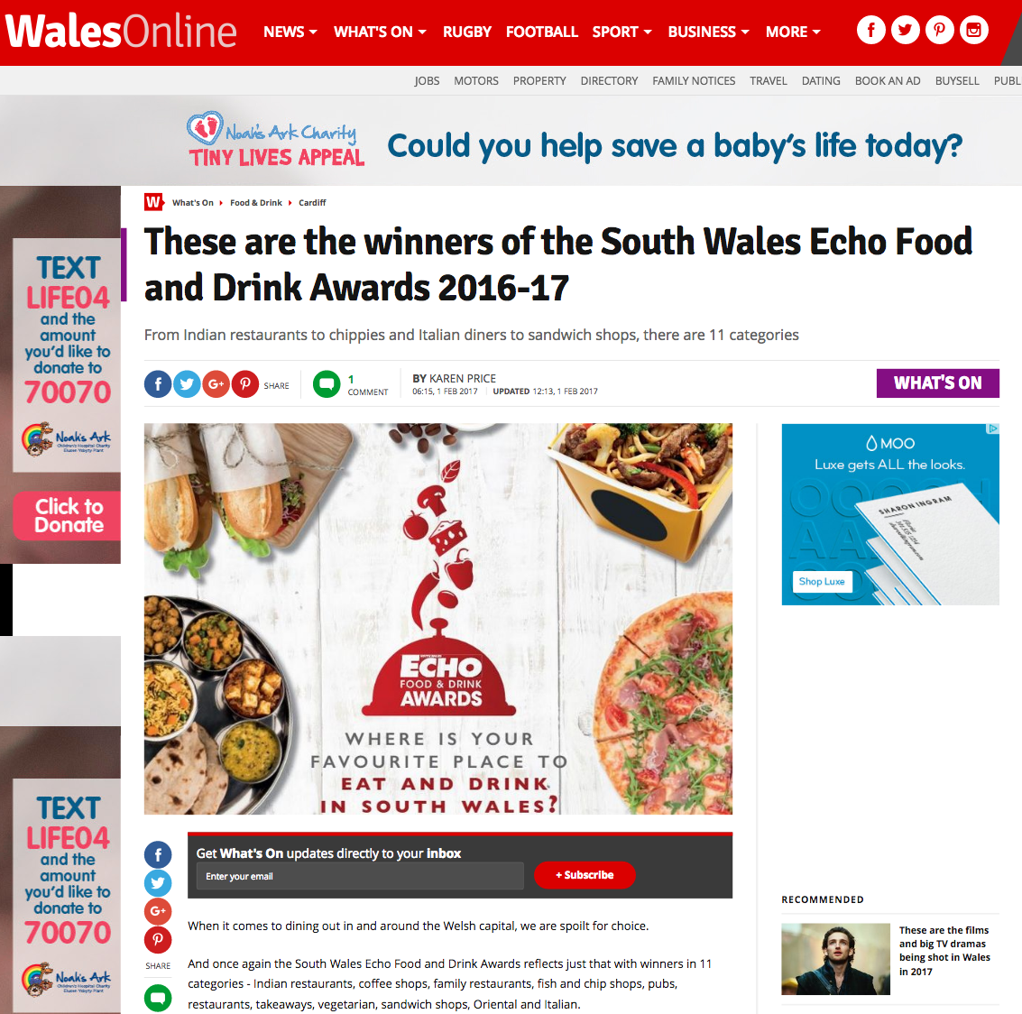 These are the winners of the South Wales Echo Food and Drink Awards 2016 17 Wales Online